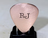 Personalized Copper Guitar Pick with Initials or Custom Monograms - GP382