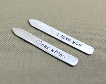 Sex kitten collar stays in aluminum for love or the 10th anniversary - CS565