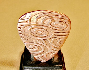Copper guitar pick for swirling waves of sound - GP690