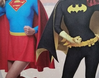 Super Woman and Bat Woman Costumes---So Cute--Multi Sizes--40-70% off Patterns n Books SALE