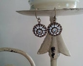 Swarovski Crystal Filigree Earrings