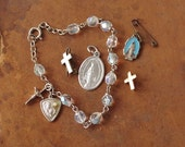 Religious Medals Catholic Charms Pins Lot of 5