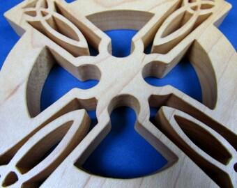 Celtic Cross / MID SIZE / Hard Maple Wood