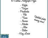 Digital Disney Autograph Pages - Kassie's Collection