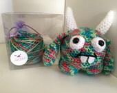DIY Crochet Kit - Bravo the horned monster
