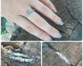 Boho Crescent Moon Stacking Ring in Sterling Silver