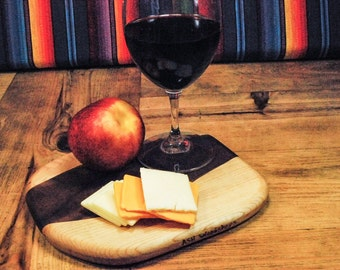 Small Travel Cutting Board, Cocktail Hour Serving Board, Wine and Cheese Board, Adventure Board, Perfect Gift, Small Kitchen, ASHWoodshops
