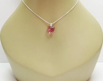 RESERVED for Sabrina Pink Swarovski Crystal Necklace