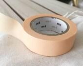 Solid PASTEL orange - peach Washi Tape Japanese PASTEL orange - peach masking tape peach wedding planner sticker tape (302) - PrettyTape
