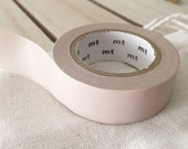 Solid PASTEL brown Tan Washi Tape Japanese  (311) - PrettyTape