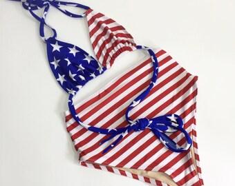 Retro usa flag Patriotic swimsuit