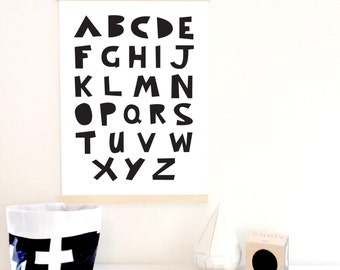 Mod ABC Poster in Black