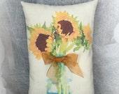 Sunflower mini pillow