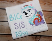 Personalized Big Sister Little Sister Sibling Shirt Paw Patrol Everest