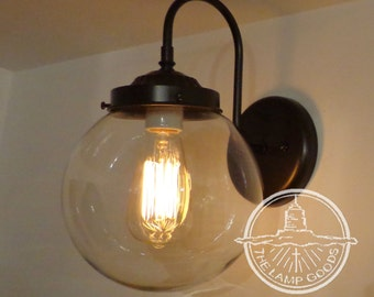Biddeford. Wall SCONCE Large Clear Globe