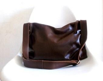 ON SALE Brown cross-body leather Bag, shoulder bag