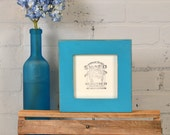 5x5 inch Picture Frame in 1.5 Standard Style with Vintage Turquoise Finish - Same Day Shipping - 5 x 5 Square Frames