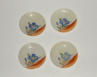 Group Lot of Four Matching Small Butter Pat Plates