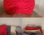 Gift for Women, Cable Knit Head band, Winter Accessories, Christmas Gift, Turband, Ear Warmer