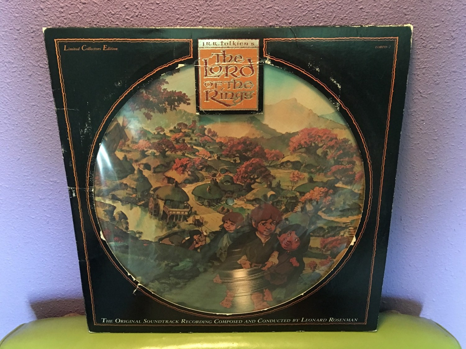 Vinyl Record Album The Lord Of The Rings Original Soundtrack