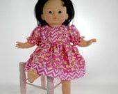 """14 inch toddler doll clothes such as Little Mommy, Corollle 14"""" toddler doll, My Life, Pink Dragonfly Dress, 01-0811"""