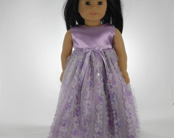 18 inch doll clothes made to fit dollls such as American Girl® Lavender Flower Dress, 01-0783