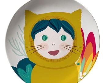 Cat girl Melamine plate