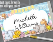 10 Flat Style Cards, Name Cards, Buffet Food Label Cards ...