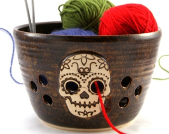 Scarface - SALE - Really Big Yarn Bowl for Chicks with Sticks - Ready to Ship