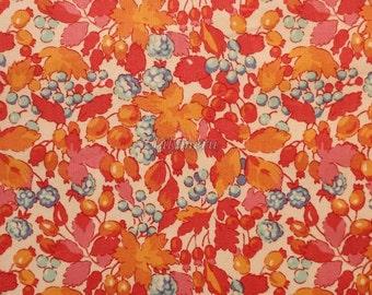 Liberty tana lawn printed in Japan - Esme - Orange  mix