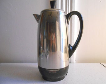 Faberware Superfast Fully Automatic Coffee Percolator/2-12 Cup/Mid Century