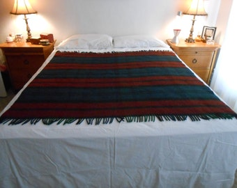 "Striped Acrylic Bed/CouchThrow/Shawl/Stadium Blanket in a 54"" By 58"" Size"