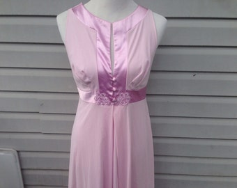 Lilac Lingerie Set with Robe and Nightgown