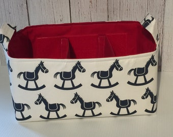 Diaper Caddy, Baby Organizer, Diaper Organizer, Rocking Horse with adjustable and removable dividers CHOOSE YOUR COLOR