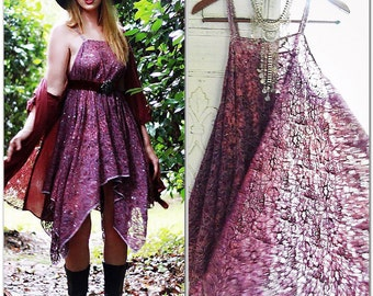 Gypsy Tunic Dress, Bohemian Magnolia lace Pearl tunic, Boho dresses Stevie Nicks Style, Vagabond wanderer, Romantic, True Rebel clothing OS