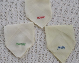 Vintage Handkerchiefs Monday, Thursday, and Friday