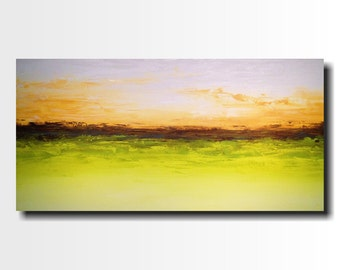 Original Large Abstract painting - 24 X 48 FREE US Shipping JMJartstudio-Speak Softly-Wall art-wall decor -Citron- painting-Oil painting-