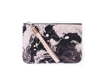 Tonala Media Clutch - Black Marble