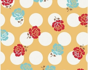 Sale up to 30% off Sew Cherry Yellow Rose Dots by Lori Holt of Bee in my Bonnet for Riley Blake