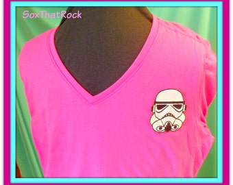 Star Wars Storm Trooper inspired custom made t-shirt or polo shirt for boys, girls, men's or woman. You pick shirt type, color and size