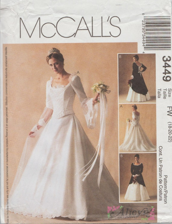 Mccalls 3449 sewing pattern designed by alicyn wedding for Mccall wedding dress patterns