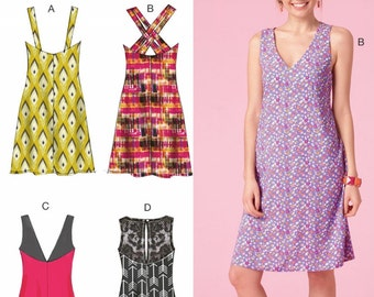 Pullover Sundress Pattern, Easy Summer Dress Pattern, McCall's Sewing Pattern 7118