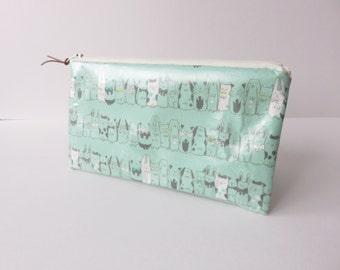 Matt Oilcloth zippered pencil case