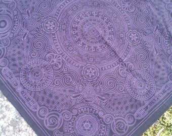 Arcana Bandana - Black and Purple