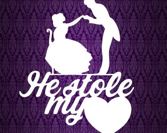 He Stole My Heart, Wedding, Dance DIY Paper Cut File for silhouette or circut - SVG file - Srapbooking and Paper Art DYI