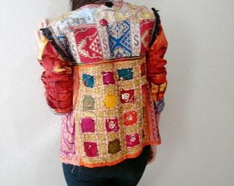 Ethnic Indian boho jacket Bohemian Gypsy Jacket Hand Embroidered Jacket Traditional Banjara Size Small