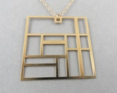 square lines necklace