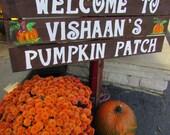 Welcome Sign / thanksgiving decor / halloween decor / pumpkin patch sign / autumn decor / christmas decor / Rustic wood sign / fall decor