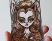 Original Mini Drawing--Werewolf