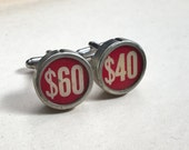 Vintage Cash Register Key Cufflinks